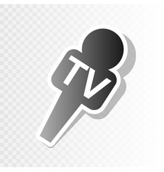 tv microphone sign new year vector image