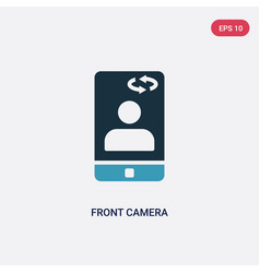 Two color front camera icon from miscellaneous vector