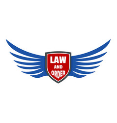 usa law and order logo icon flat style vector image