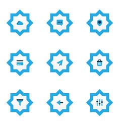 user icons colored set with filter payment send vector image