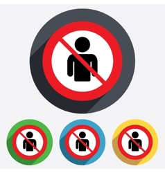 user not allowed sign icon person symbol vector image