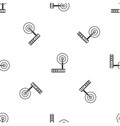 Wifi router pattern seamless black vector