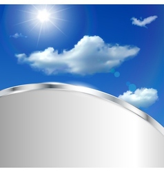 Abstract background with sky sun and clouds vector image