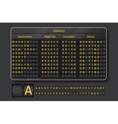 Airport or railway scoreboard vector image vector image