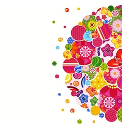 Background with floral and ornamental circles vector image vector image