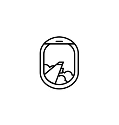 Black and white airplane window icon vector image