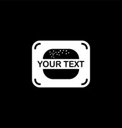 burger fast food logo vector image