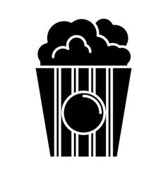 popcorn icon black sign on vector image