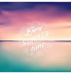 Sea sunset Seascape background Enjoy Summer time vector image vector image