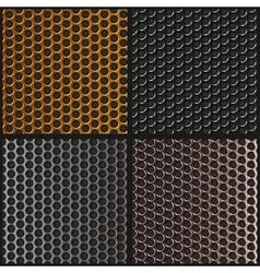 Set metal texture Metal grid vector image