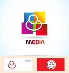 People media logo vector image vector image