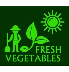agriculture concept green symbol vector image