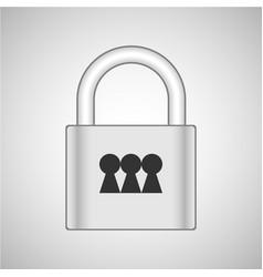 lock 3x vector image vector image