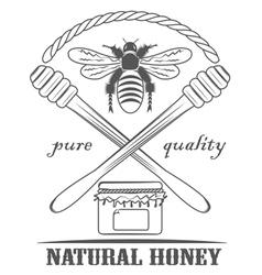 Natural honey pure vector image vector image