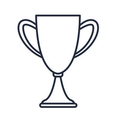 outlined trophy award prize win vector image