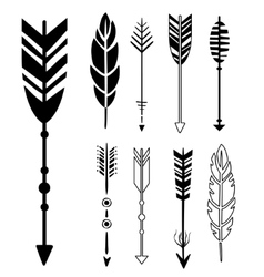 Set of Cute Hipster Arrows vector image vector image