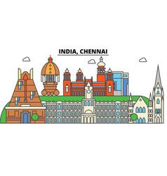 chennai india hinduism city skyline vector image