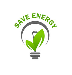 green leaf light lamp bulb save energy icon vector image vector image