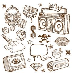 grunge mix vector image