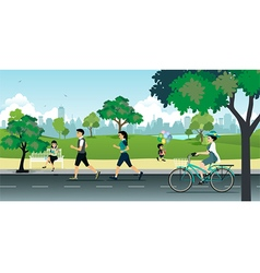 Park vector image vector image