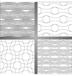 Set of four abstract seamless backgrounds vector image