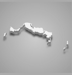 3d isometric map turks and caicos islands vector