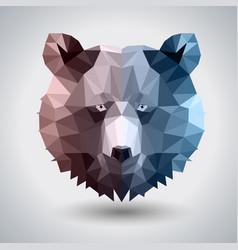 Abstract polygonal tirangle animal bear vector