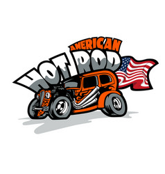 American hot rod custom made cars t-shirt print vector