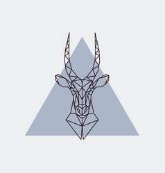antelope head in polygonal style vector image