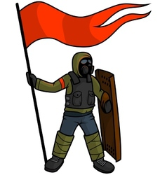 Apocalyptic Patriot - isolated vector image