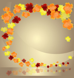 autumn leaves border vector image