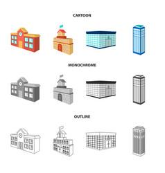 bank office skyscraper city hall building vector image