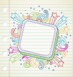 Banner doodle vector