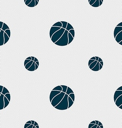 Basketball icon sign Seamless pattern with vector image