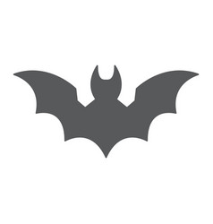 bat glyph icon animal and halloween dracula sign vector image