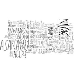 benefits of salamba sirasana text word cloud vector image