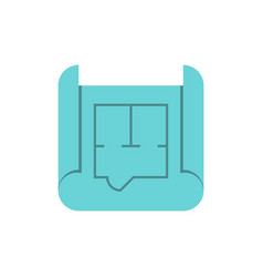 blueprint roll flat icon vector image