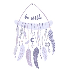 Boho dreamcatcher vector