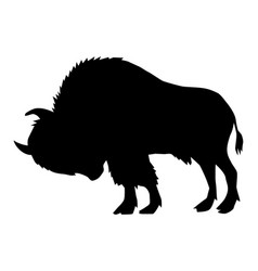 Buffalo side view vector