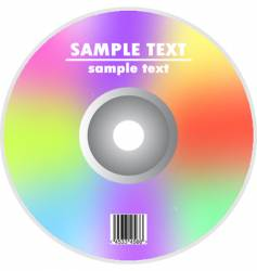cd or dvd vector image