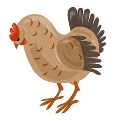 Chicken icon cartoon style vector