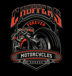 Choppers forever vector