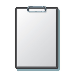 clipboard with a sheet of paper vector image