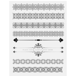 Collection of Ornamental Rule Lines vector