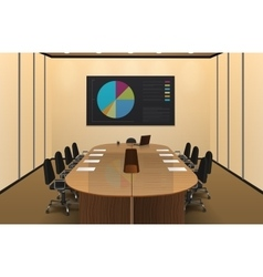 Conference Room Interior Design vector image