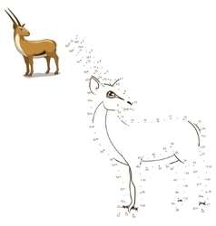 Connect the dots to draw animal educational game vector