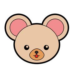 Cute mouse face cartoon vector