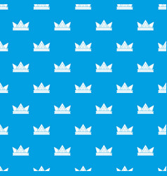Diamond crown pattern seamless blue vector