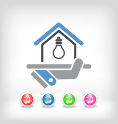 Electricity supply icon vector
