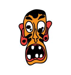 face clown vector image